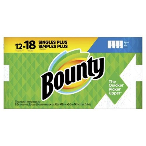 Bounty Select-a-Size Paper Towels - 12 Giant Rolls