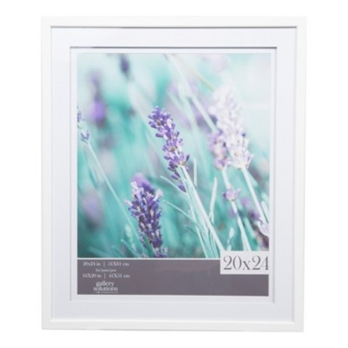 Single Image 20X24 Wide Double Mat White 16X20 Frame - Gallery Solutions