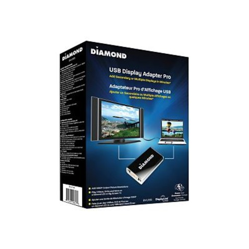 Diamond Multimedia USB External Video Display Adapter, White (BVU195)