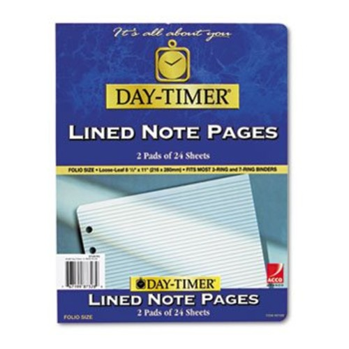 Lined Note Pads for Organizer 81/2 x 11 48 Sheets/Pack