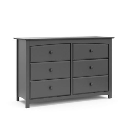 Stork Craft Kenton 6 Drawer Dresser - Gray