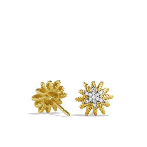 Starburst Earrings with Diamonds in G