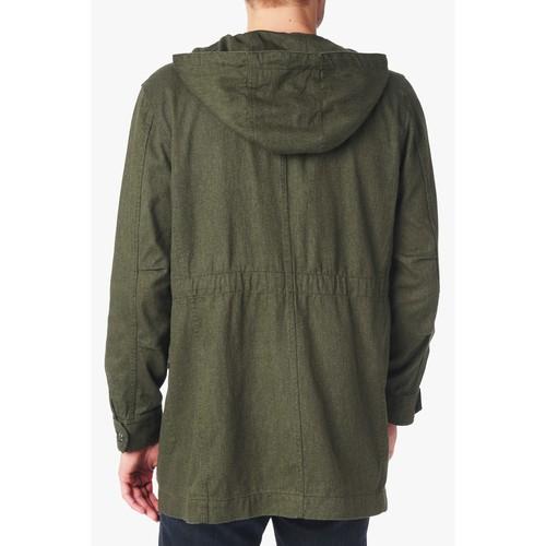 Hooded Parka Jacket in Olive