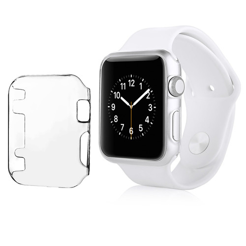 Insten - Crystal Hard Snap-in Case Cover Compatible with Apple Watch iWatch 42mm - Clear