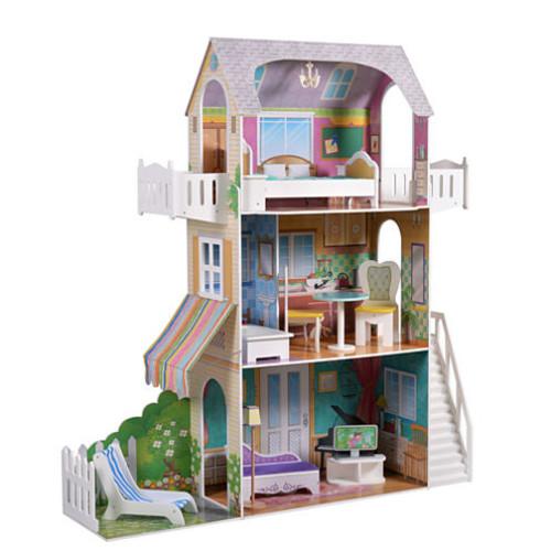 Teamson Kids - Garden View Estate Doll House for 18 Inch Dolls