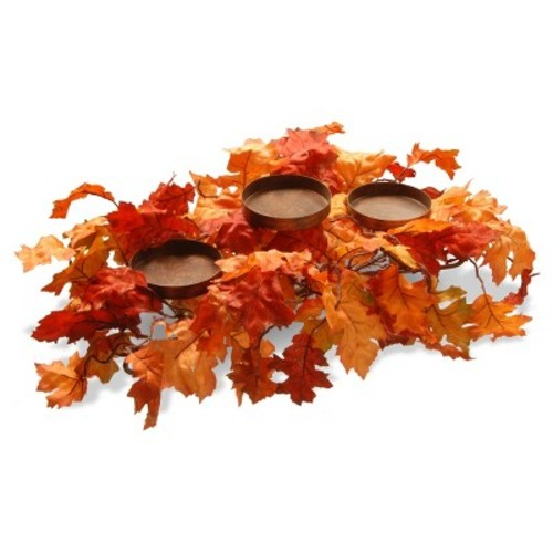 National Tree Company Harvest Accessories 22 in. Candle Holder with Maples