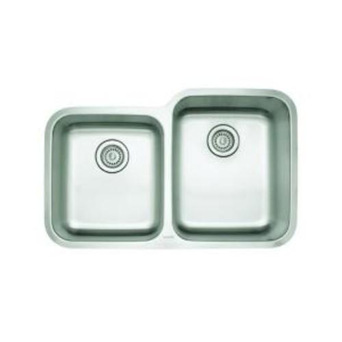 Blanco Stellar Undermount Stainless Steel 32 in. 1-3/4 Reverse Double Bowl Kitchen Sink