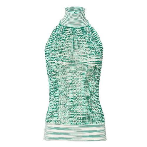 MISSONI Green Knit Halter Top