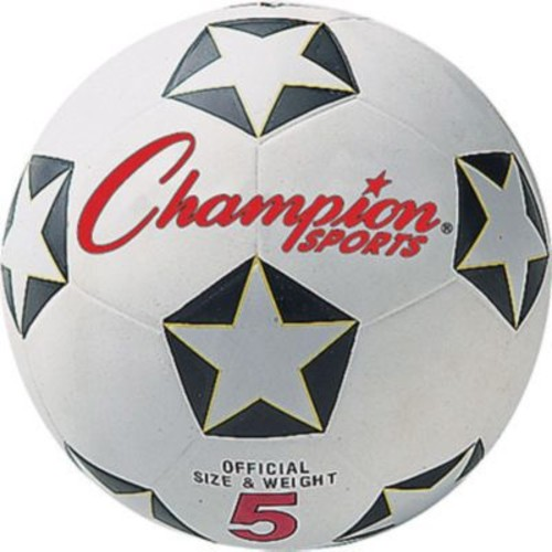 Champion Sports Soccer Ball Set, Black and White, Size 4