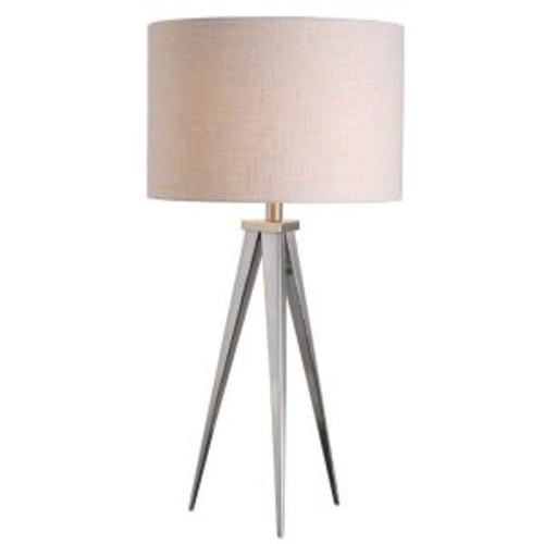 Kenroy Home Foster 29 in. Brushed Steel Table Lamp