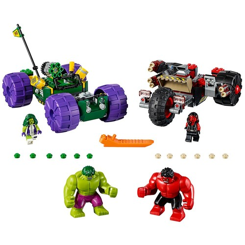 LEGO Marvel Super Heroes Hulk vs. Red Hulk 76078 Superhero Toy