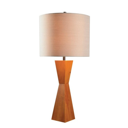 Kenroy Home Sam 30 in. Wood Table Lamp with Tan Shade