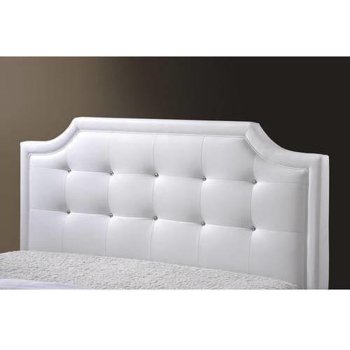 Carlotta Modern Bed with Upholstered Headboard