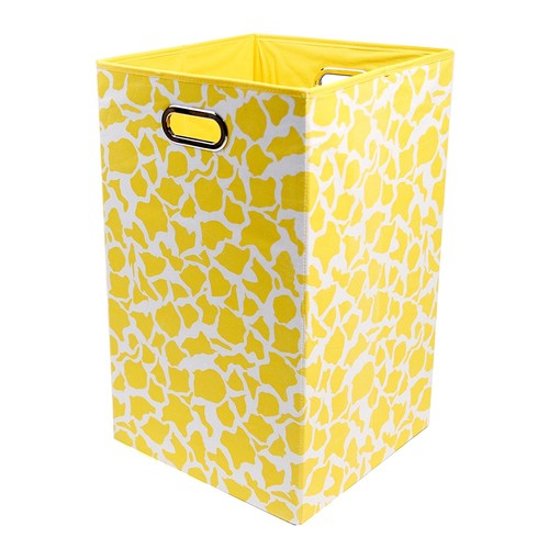 Modern Littles Bold Folding Laundry Basket | Folds Flat When Not in Use for Easy Storage