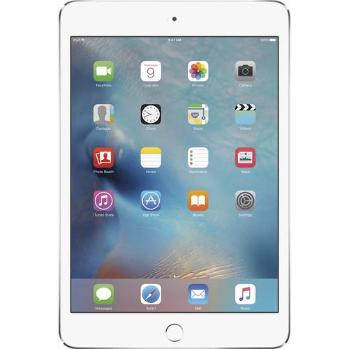 Apple - iPad mini 4 Wi-Fi + Cellular 128GB - Silver