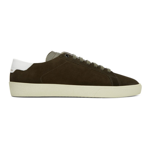 SAINT LAURENT Khaki Suede Court Classic Sl/06 Sneakers