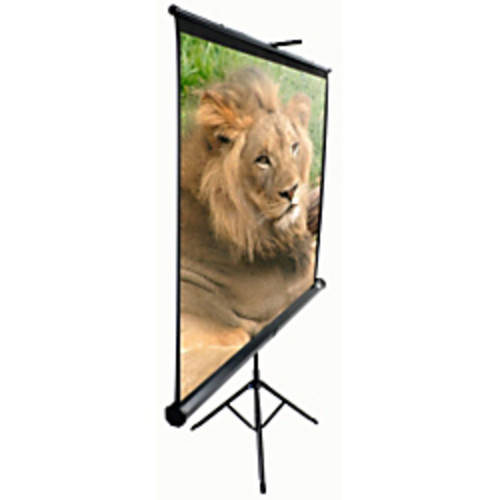 Elite Screens T92UWH Tripod Portable Tripod Manual Pull Up Projection Screen (92