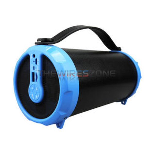 Supersonic IQ-1306BT Blue Portable Speaker with Bluetooth/FM/USB/MicroSD/AUX IN