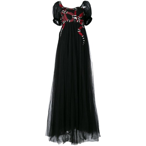 GUCCI Snake Embroidered Tulle Gown