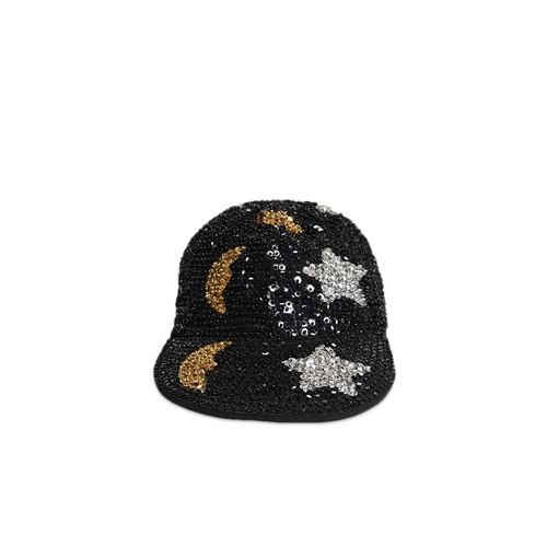 Moon Star Sequin Duckbill Cap