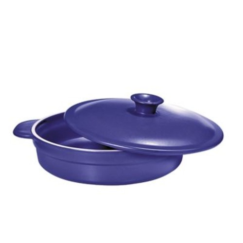 French Home 2.6 qt. Saut Pan with Lid in Blue