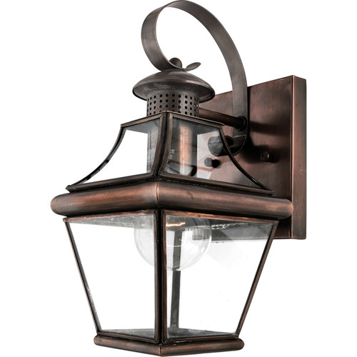 Carleton Aged Copper 1-light Small Wall Lantern
