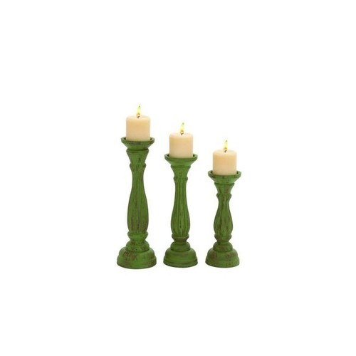 Studio 350 Candles & Candle Holders Wood Candle Holders (Set of 3)