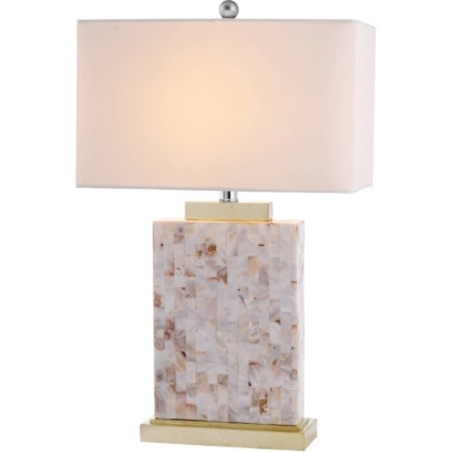 Safavieh Tory Shell Table Lamp with CFL Bulb, with Off-White Shade