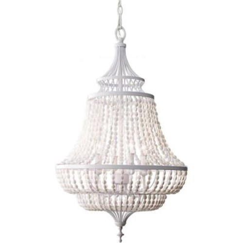 Feiss Maarid 4-Light White Semi-Gloss 1-Tier Chandelier