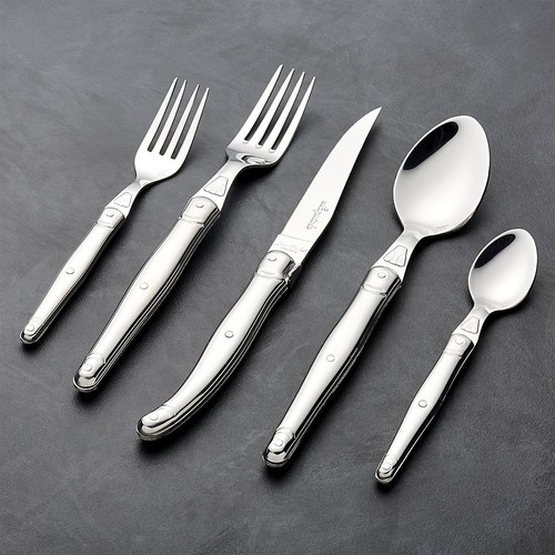 Laguiole  Brushed Stainless Steel 20-Piece Flatware Set