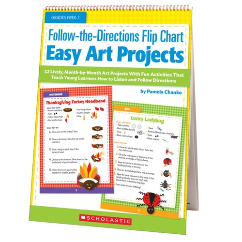 Scholastic Follow-The-Directions Flip Chart: Easy Art Projects
