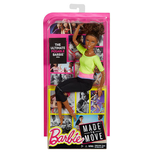 Barbie Made To Move Doll - Brunette Bun