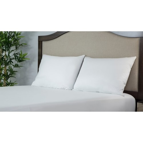 Protect-A-Bed ALLERZIP Smooth KING Pillow Encasement 2 PACK - White