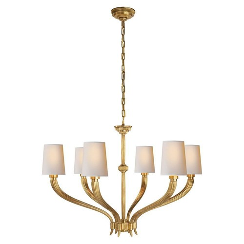 Ruhlmann Chandelier, Antiqued Brass