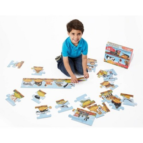 Melissa & Doug Alphabet Train Jumbo Jigsaw Floor Puzzle - Letters and Animals (28pc, 10 feet long)