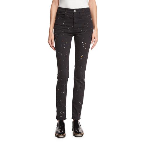 ETOILE ISABEL MARANT Ennet Splatter-Print Jeans