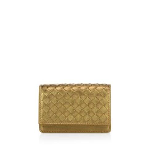 BOTTEGA VENETA Inrecciato Metallic Leather Wallet
