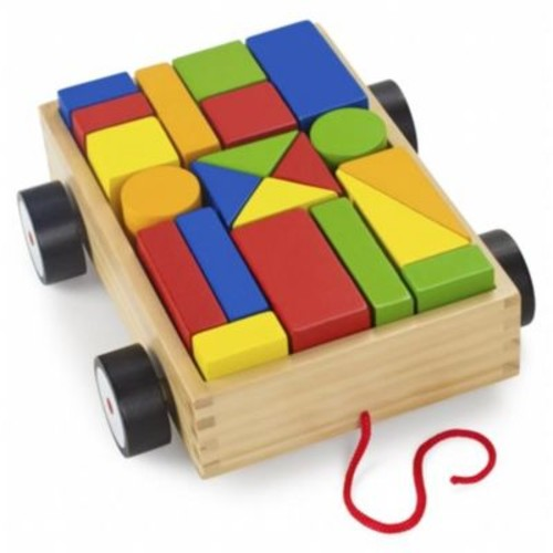 Brybelly Holdings Wooden Wonders Take-Along Building Block Wagon (BRYBL4005)