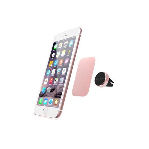 Satechi [Air Vent Magnetic] Aluminum Car Mount Holder Car Mount Phone Holder for Nexus 5x / Nexus 6P / iPhone 6s / 6 / 6s Plus / 6 Plus, Galaxy Note 5/ S6 Edge Plus and More (Rose G