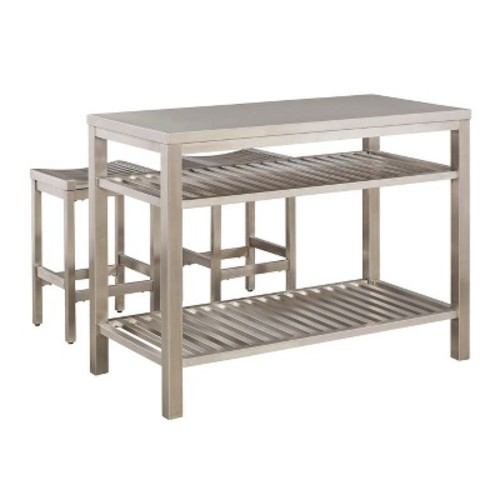 Stainless Steel Island Set - Brushed Stainless - Home Styles