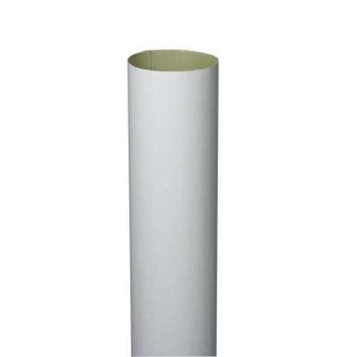 Amerimax Home Products 4 in. x 10 ft. White Aluminum Plain Round High Gloss Downspout