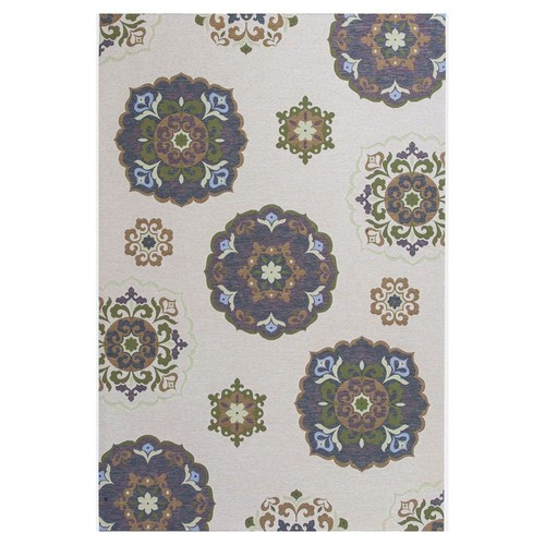 Kas Rugs Starlight Beige/Brown 6 ft. 9 in. x 9 ft. 6 in. All-Weather Patio Area Rug