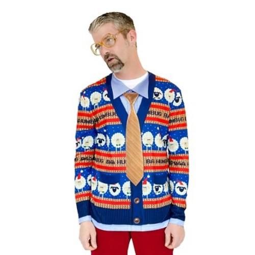 Men's Baa Humbug Ugly Christmas Sweater, Long Sleeve Tee