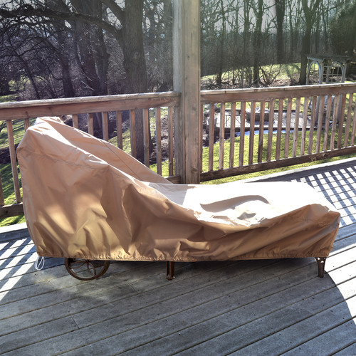 Island Umbrella All-Weather Protective Cover for Single Chaise Lounge
