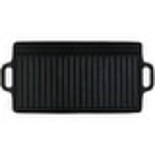 Sunnydaze Cast Iron Reversible Grill Griddle Pre Seasoned 20 Inch