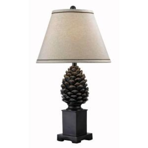 Kenroy Home Spruce 29 in. Aged Bronze Table Lamp