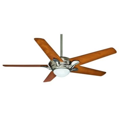 Casablanca 59076 Bel Air 56 in. Transitional Brushed Nickel Cherrywood Veneer Indoor Ceiling Fan