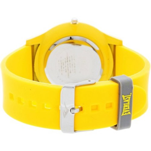 Everlast Analog Monochrome Sports Watch, Yellow Silicone Strap