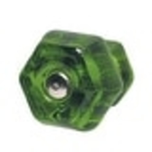Cabinet Knob Forest Green Glass 1 1/4 Dia W/ Chrome Screw | Renovator's Supply