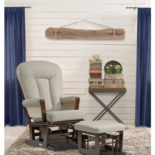 Dutailier Modern Glider and Ottoman Combo Set - Coffee Finish